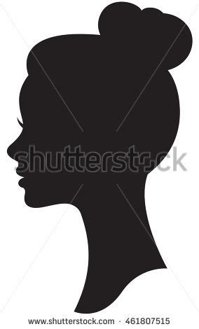 Hairstyle Tools Designs For Silhouette Cameo by Vector Silhouette Wedding Hairstyle Portrait Stock