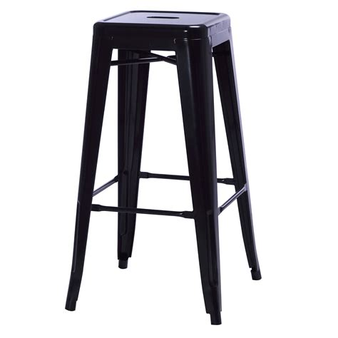 bowr tolix bar stool  black