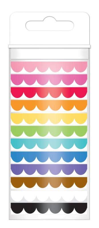 doodlebug designs washi doodlebug design scallop assortment washi