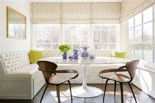 Upholstered Breakfast Nook by L Shaped Banquette Design Ideas
