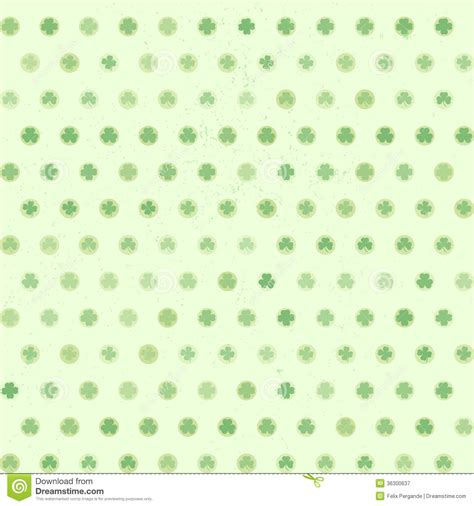 pattern dotted hole leaf green shamrock dots pattern stock vector image of gaelic