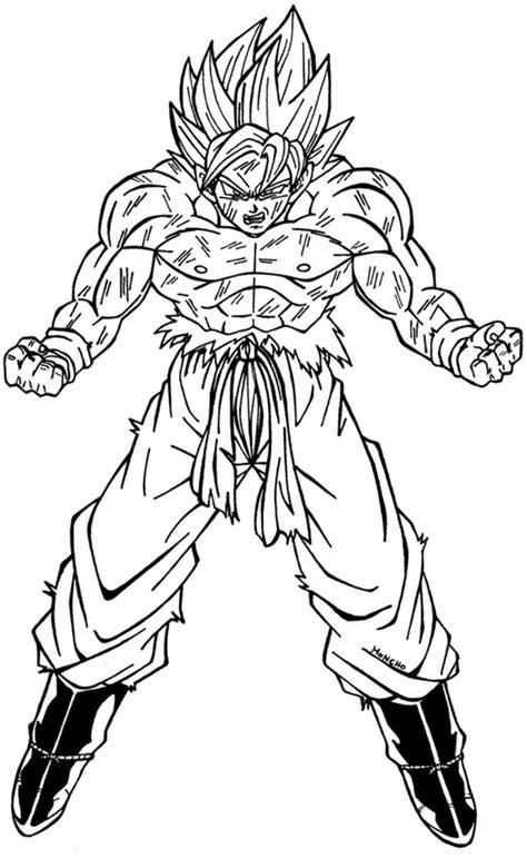 imagenes de goku para dibujar a lapiz completos gok 250 para colorear