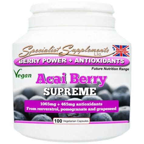 acai berry supreme specialist supplements acai berry supreme caps