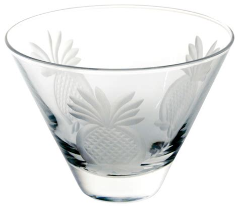 Cocktail Tumbler Glass Pineapple Martini Glass Clear 3 375x4 625 Tumbler