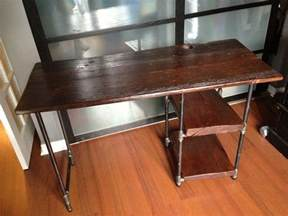 Reclaimed Wood Desk Diy Reclaimed Barn Wood And Pipe Desk Redwood Desk Project Industrial Barn Wood And