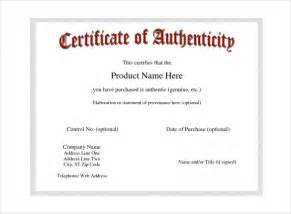 Certificate Of Authenticity Template by Certificate Of Authenticity Template Certificate