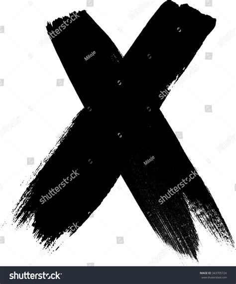 x paint x marks x handwritten letter cross sign two crossed
