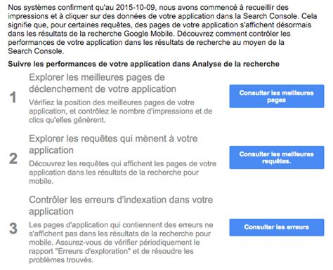 search application for mobile app indexing indexation d application mobile