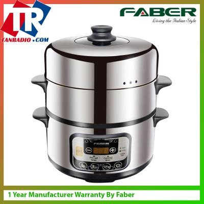 Rice Cooker Faber faber digital food 9l capacity steamer 3 tier stainless