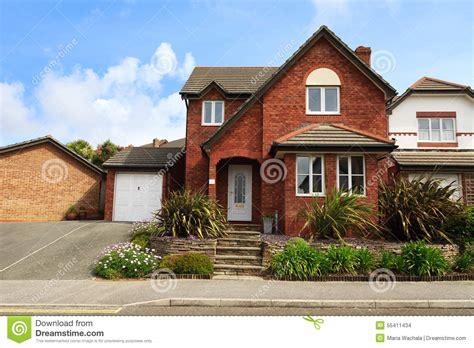 Adobe Homes Plans Redbrick English House Stock Photo Image Of Real