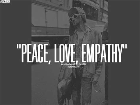 tattoo peace love empathy kurt cobain music pinterest