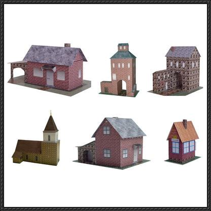 Papercraft Buildings - new paper craft 6 building paper models free on
