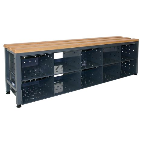 benches with shoe storage armour single sided bench seating with shoe storage