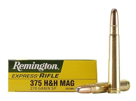 h h remington express ammo 375 h h mag 270 grain jacketed