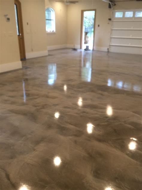 making   epoxy metallic floor step  step floor epoxy