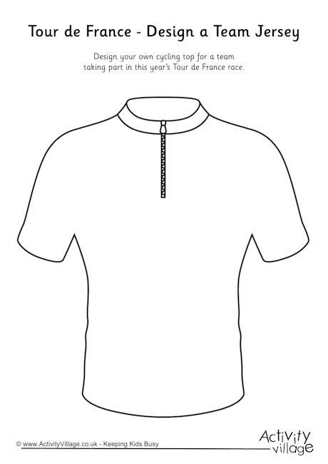 Tour De France Design A Team Jersey Concert T Shirt Template
