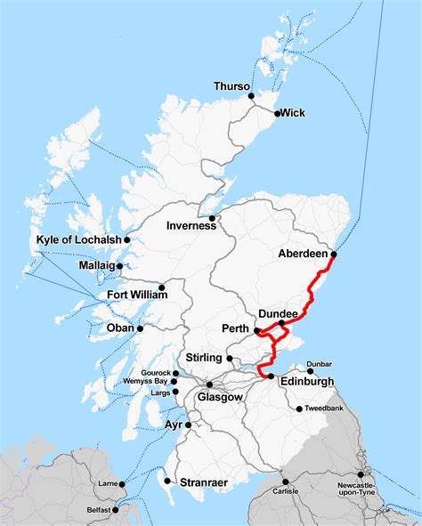 map of edinburgh scotland file rail map scotland edinburgh aberdeen line png