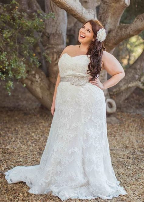 wedding hair for plus size brides stunning 2016 plus size lace wedding dresses garden sash a