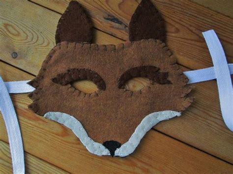 printable coyote mask brown fox coyote felt mask realistic by