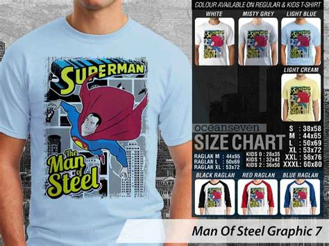 Kaos Superman Of Steel Logo 01 kaos superman of steel kaos of steel terbaru
