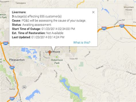 california power outage map 3 power outages impacting 935 customers in livermore