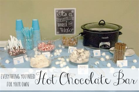 hot cocoa bar toppings hot cocoa bar all that glitters