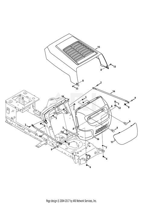 mtd wf  parts diagram  hood grille