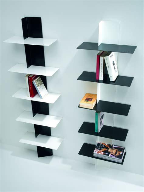 scaffali e librerie design legno lift libreria da parete in acciaio a colonna 45 x 160 cm