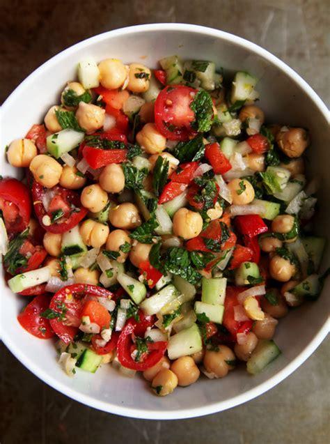 hot chick pea salad chickpea salad with lemon mint vinaigrette