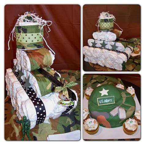 Army Baby Shower Theme by Baby Shower Army Themed With Tank Cake Made By My