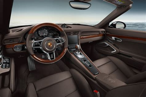 porsche 911 interior porsche exclusive reveals new options with 911 carrera s