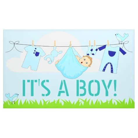 Its A Banners It S A Boy Baby In Clothesline 3 X 5 Banner Zazzle