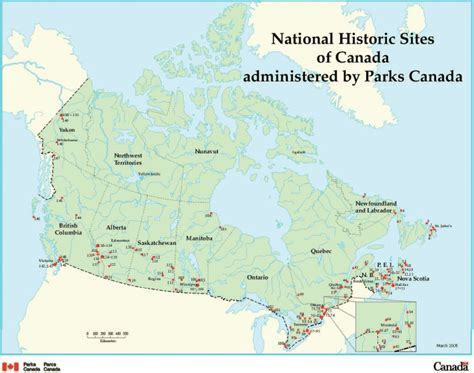 canadian heritage map archived rpp 2006 2007 parks canada agency 1 4