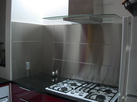 kitchens with stainless steel backsplash stainless steel backsplash panel