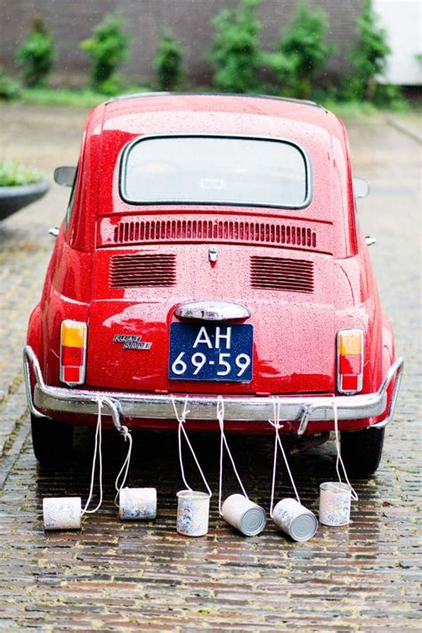 Just Married Auto Blikjes by Blikjes Achter De Trouwauto Theperfectwedding Nl