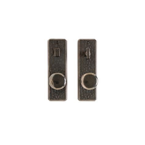 Interior Door Hardware Sets Hammered Privacy Set 2 1 2 Quot X 8 Quot Privacy Mortise Bolt Latch E30409 Rocky Mountain