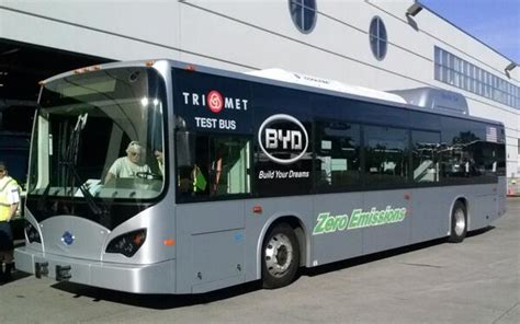 Oregon Gets First Electric Bus For Portland Area