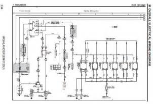 2006 toyota highlander electrical wiring diagram em0120u