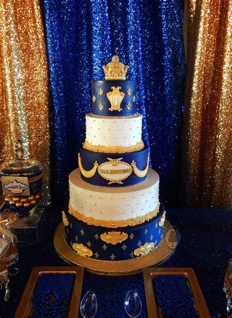 Pri E First  Ee  Birthday Ee   Royal  Ee  Birthday Ee   Party Cake Blue