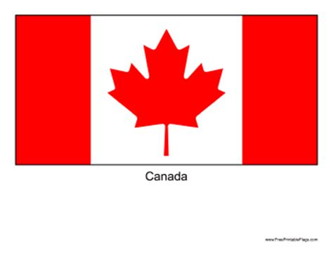 Flag Of Canada Canadian Flag Template