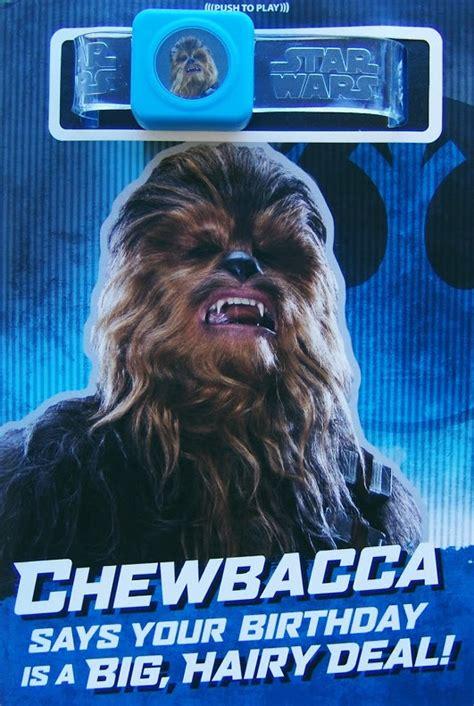 Chewbacca Birthday Card Buy Star Wars Interactive Sound Birthday Card Chewbacca