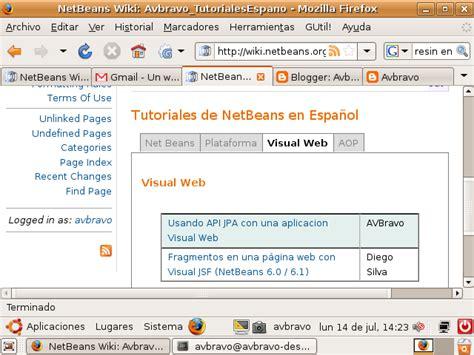 tutorial de netbeans pdf wiki de tutoriales de netbeans en espa 241 ol