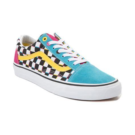 multi colored vans sneaker release alert vans skool chex multi color