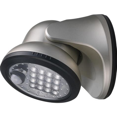 wireless led outdoor flood lights light it 100 degree silver motion activated integrated