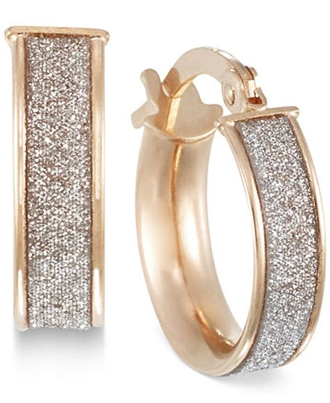 White Gold Jewellery by Glitter Hoop Earrings In 14k Gold White Gold Or Gold