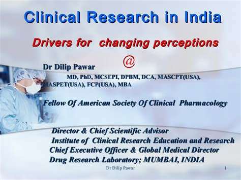Mba In Clinical Research Management In India by Clinical Research