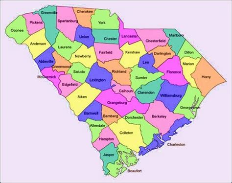carolina counties map south carolina map by county afputra