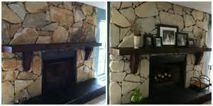 new home makeover step 1 white wash fireplace its just