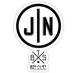 Wall Sticker Names quot jin bts member logo series black quot stickers by