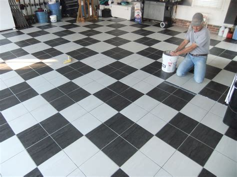 Garage Floor Tiles Ceramic by Tile Garage Porcelain Tile Home Design Simple